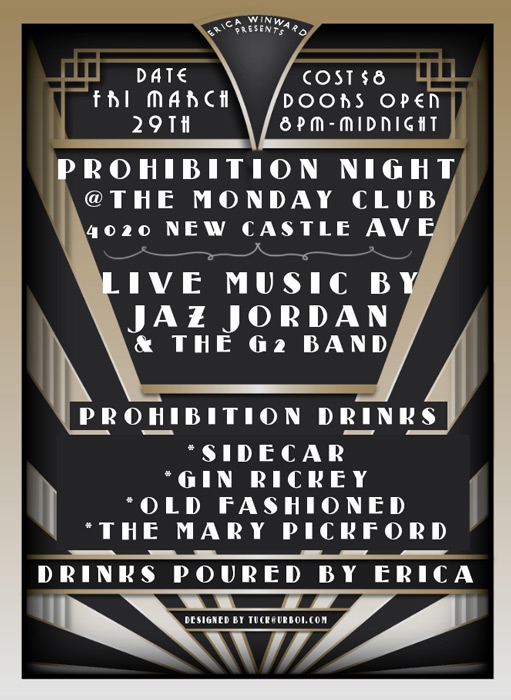 Join us for Prohibition night