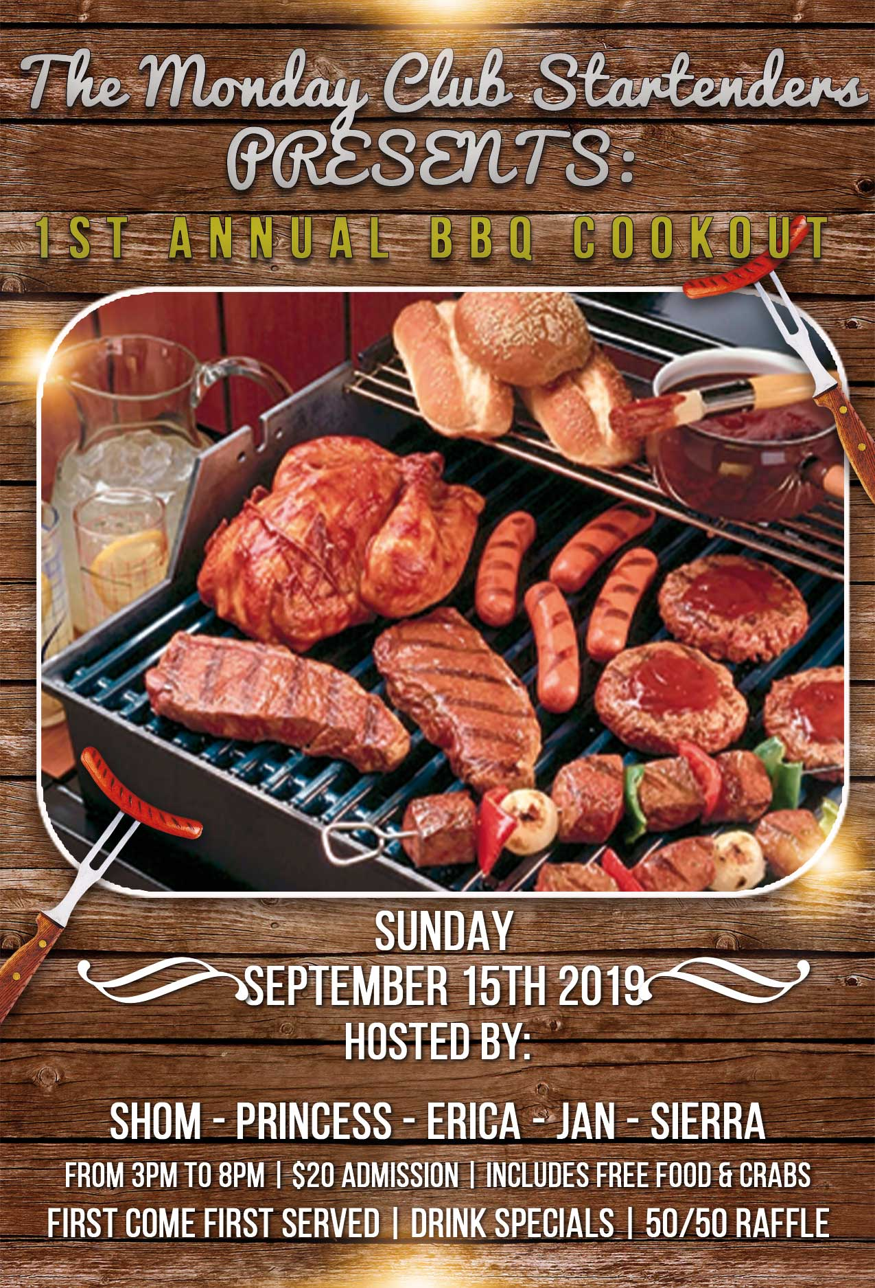 1st Annual Monday Club Cookout!!