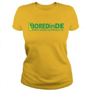 BOREDinDE yellow ladies fitted