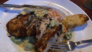 Dorcea's Blackened Chicken Alfredo